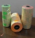 этикет-лента 26x16 прямая цветная (оранж) 800 этикеток