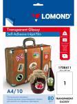 1708411 Lomond 10л.A4 самокл.прозрачн.100 мк для струйных принтеров PET Self-Adhesive Clear Ink Jet Film (в кор.35 пачек)