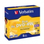 mini DVD+RW 1,4gb(30min) Verbatim, 4x,8cm, Hardcoated VERBATIM (43565) for camcorder