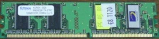DDR DIMM 128Mb 333MHz PC2700