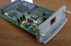 HP J3113A JetDirect 600n Fast Ethernet Internal (10/100Base-TX, EIO, LJ 2100/4000/4050/5000/8000/8100 Color LJ 4500/8500 Mopier 240/320/9100C Digital Sender) распродажа