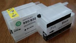 -зип: картридж для ДЗК HP 950/711/932 black 20ml XL (без чипа, без чернил)