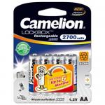Camelion AA Rechargeable NH-AA2700LBP4, Lockbox  1.2V, 2700 mAh, (цена за 4 шт) Блистер