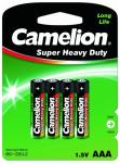 Camelion AAA R03P-BP4B, Super Heavy Duty,1.5V, 550mAh   (цена за блистер 4шт)