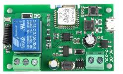 Реле включения-выключения  5-32V/10A (RF433+Wi-Fi, работа по расписанию, по циклу, ручное управление)