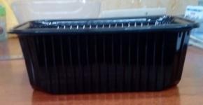 контейнер PET 1000мл квадратный с крышкой